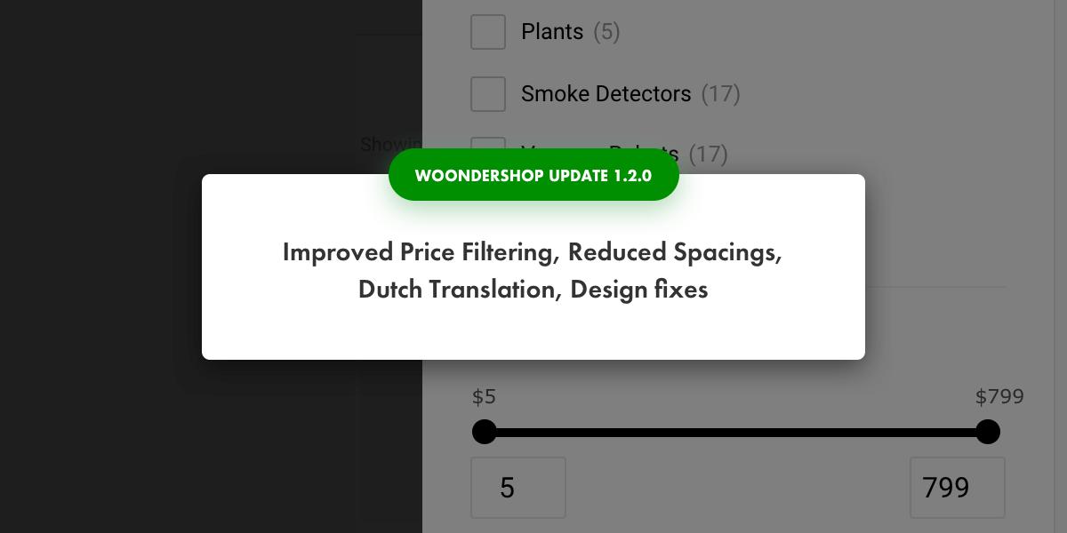 WoonderShop update 1.2
