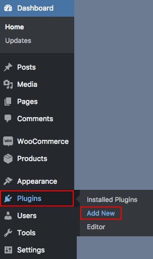 add new wordpress