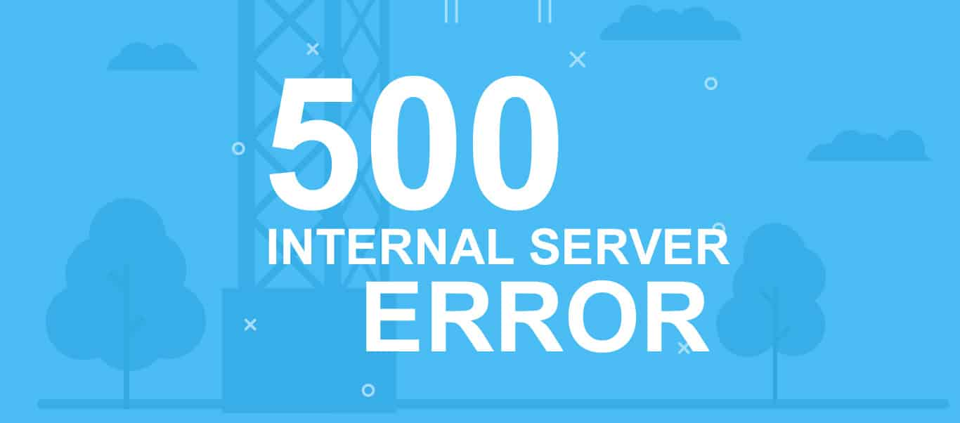 500 error - internal server error