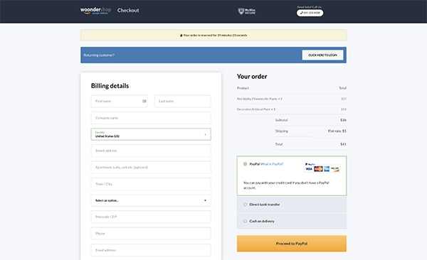 woondershop jungle E-commerce Checkout Conversion Rates