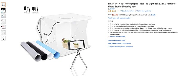 Amazon product photography equipment