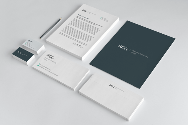 consultpress stationery design mockup