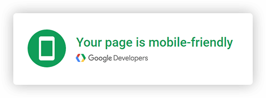 Your page is mobile friendly