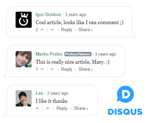 Disqus plug-in for comments