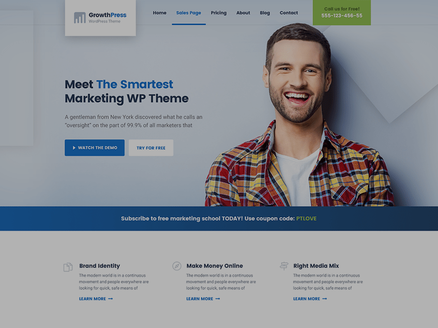 growthpress wp theme