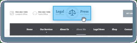 Changing Logo Position in WordPress