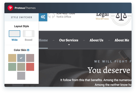 Live Color Sheme Change on the WordPress Theme