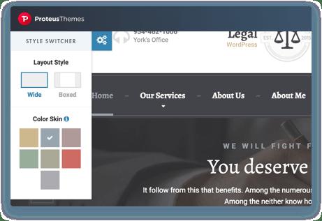 Live Color Sheme Change on the WordPress Theme