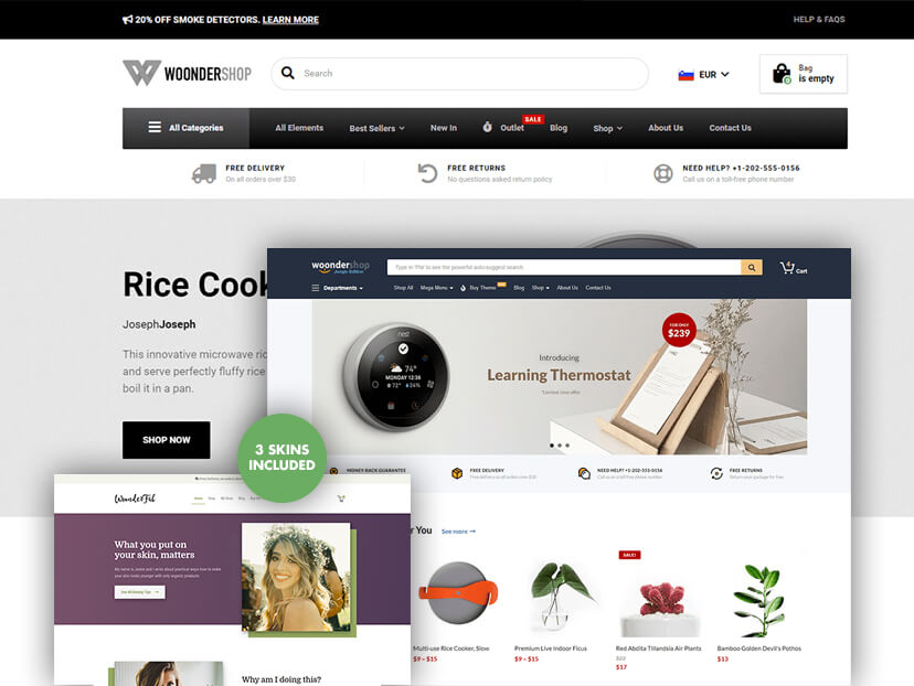 Conversion Optimized WooCommerce Theme - WoonderShop